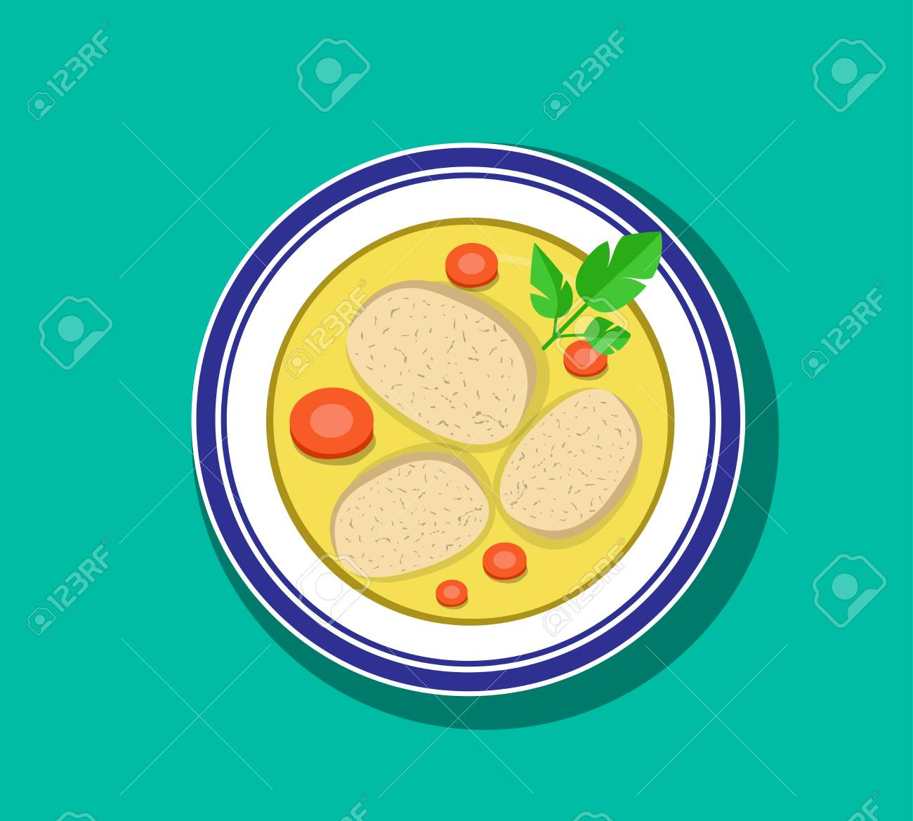 top view sliced gefilte fish soup in bowl vector design royalty free cliparts vectors and stock illustration image 95340514 top view sliced gefilte fish soup in bowl vector design
