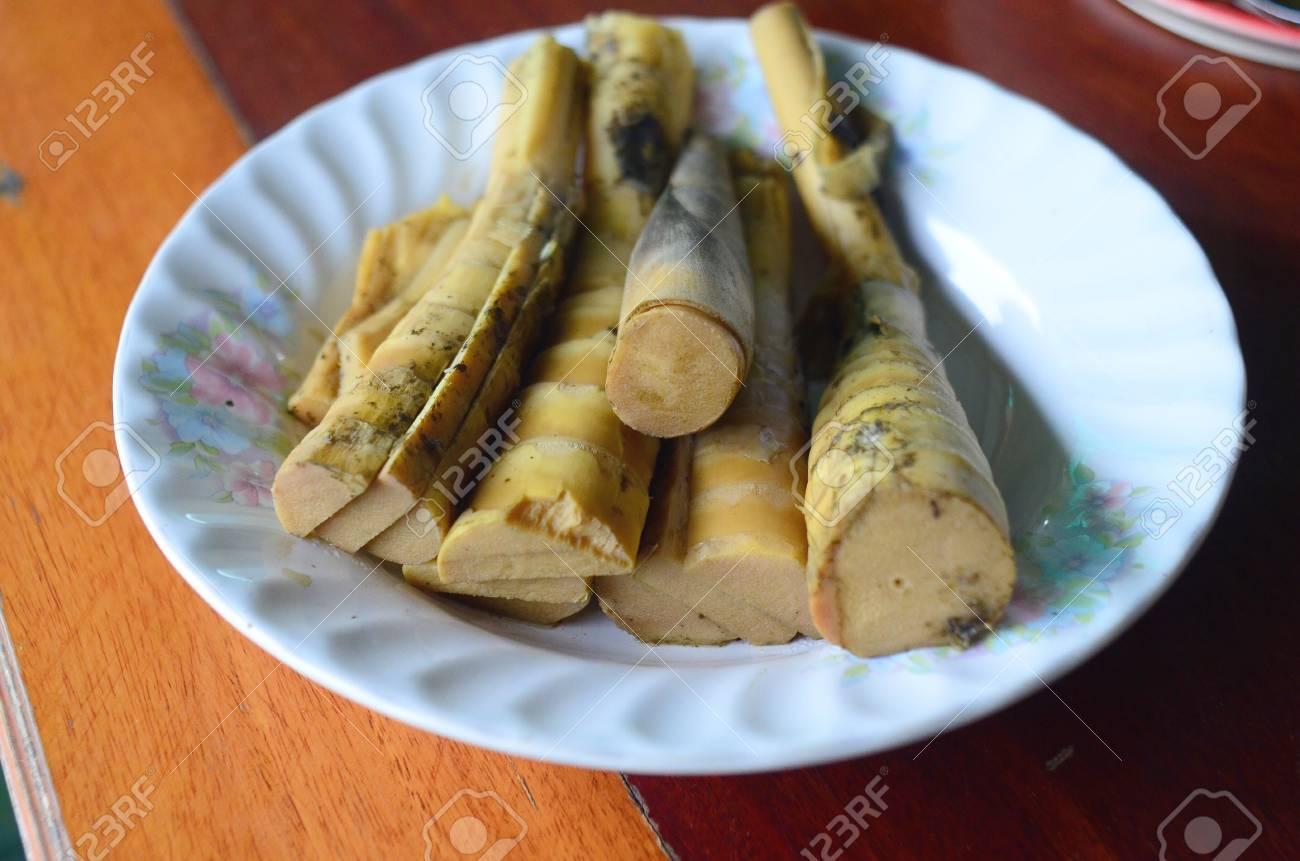 Bambus Schiessen Thai Essen Lizenzfreie Fotos Bilder Und Stock