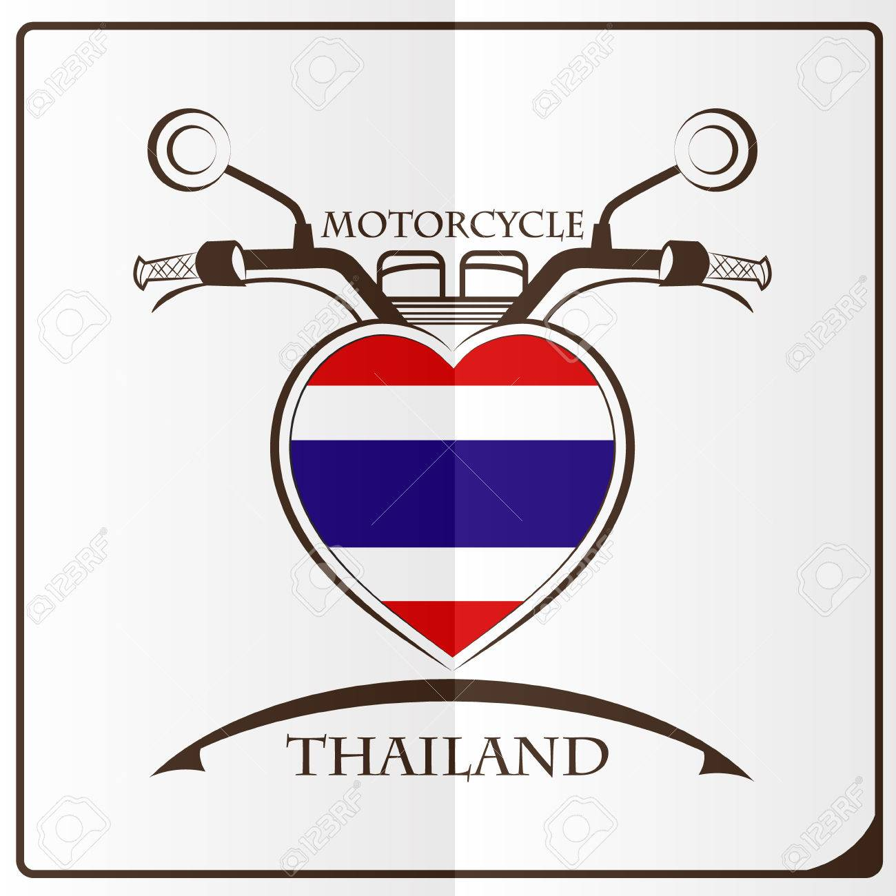 Motorcycle Logo Made From The Flag Of Thailand Royalty Free Cliparts