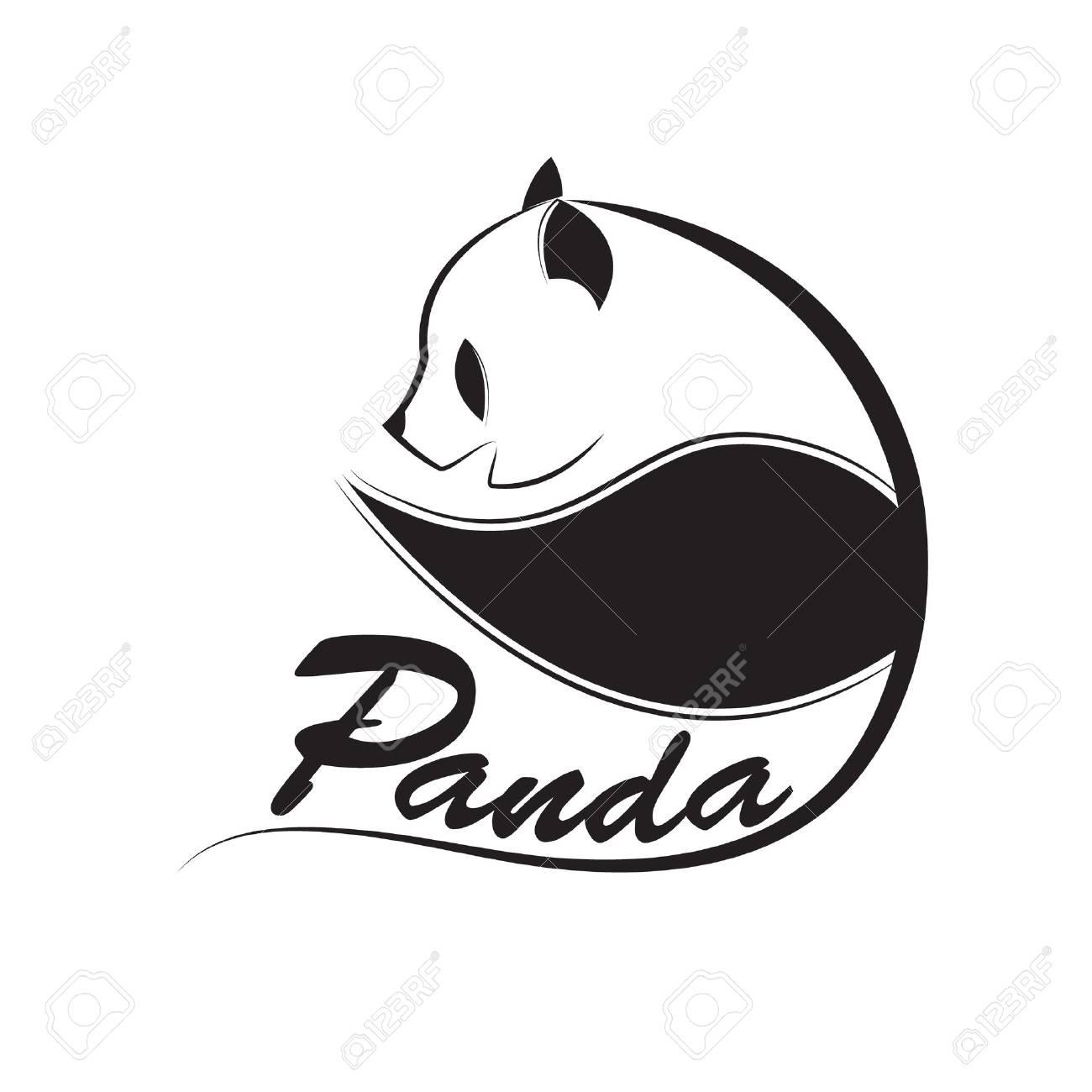 panda logo design vector. - 88055792