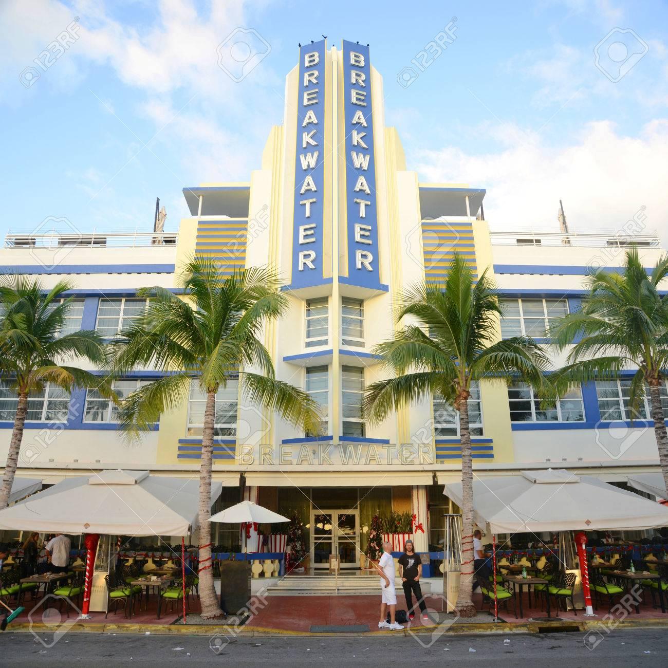 Breakwater Building With Art Deco Style In Miami Beach, Miami ...