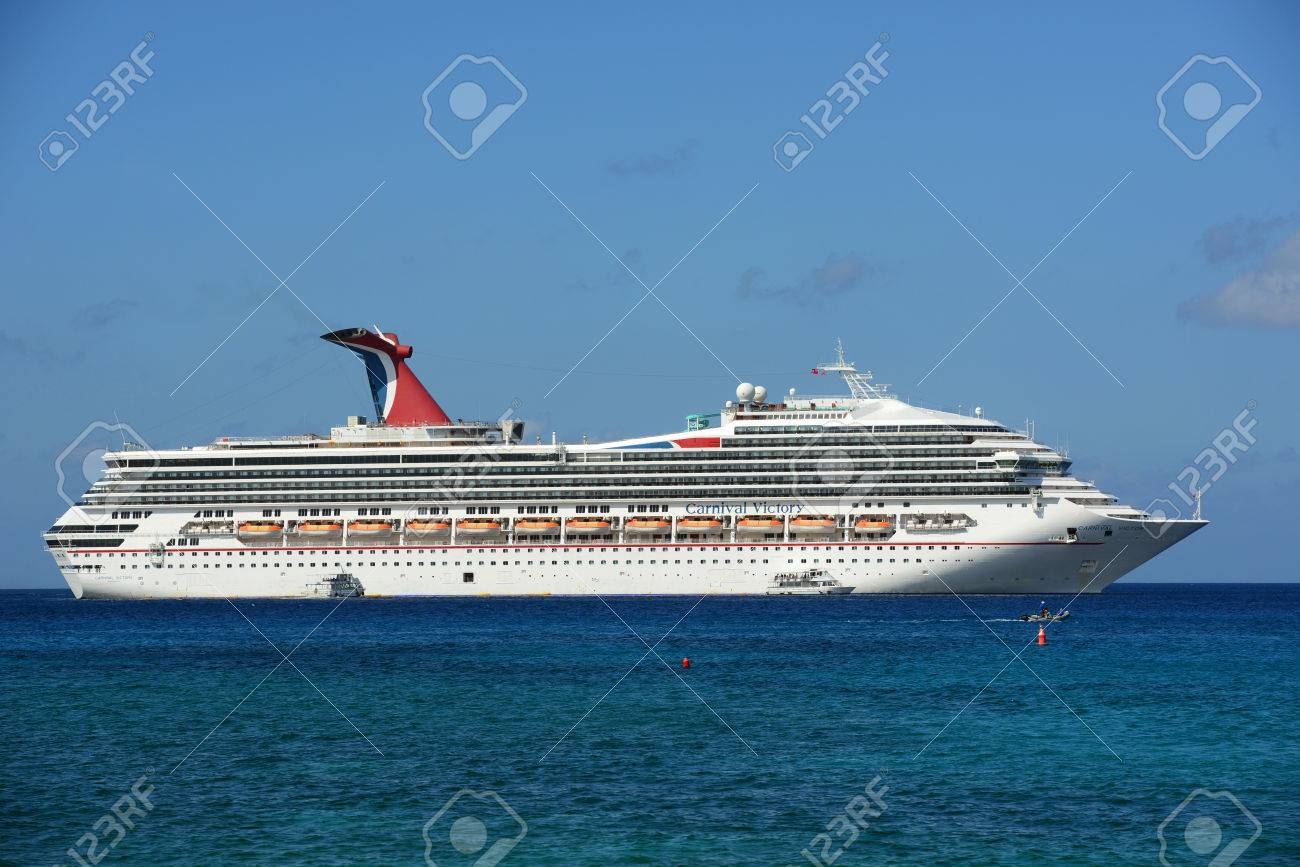 Carnival Cruise Ship Victory Anchor Offshore In George Town - Cruise ship victory