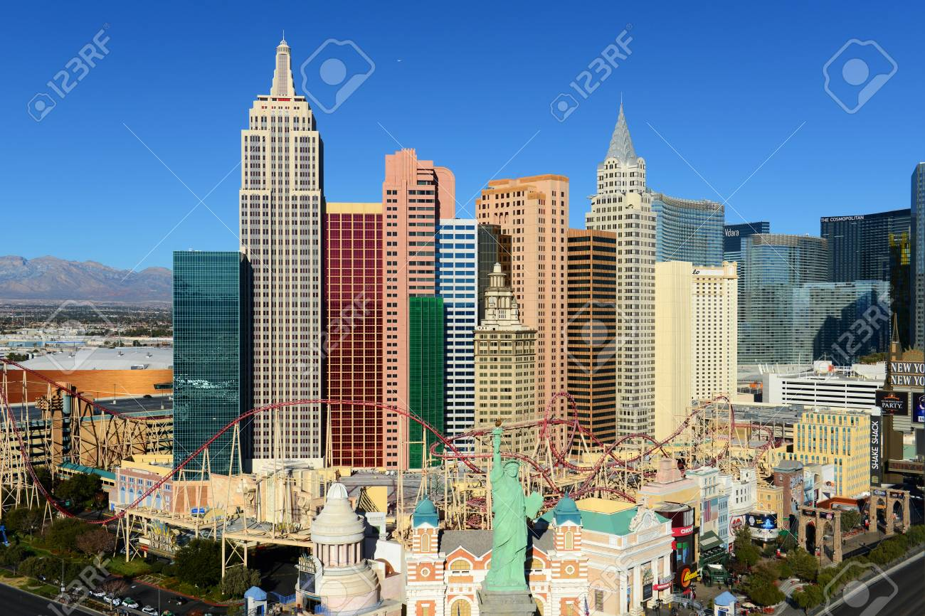 New York New York Hotel And Casino On Las Vegas Strip In Las Stock