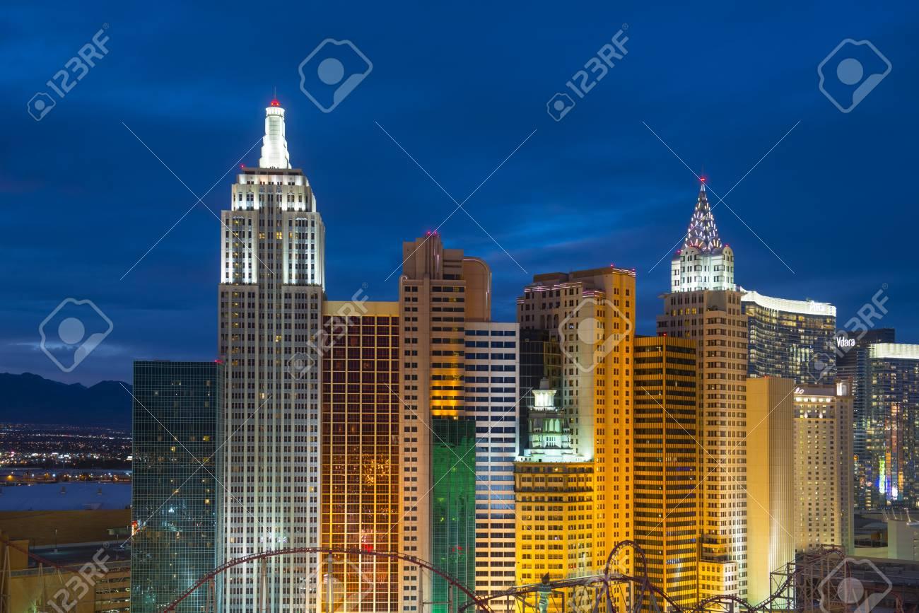 New York New York Hotel And Casino On Las Vegas Strip At Night