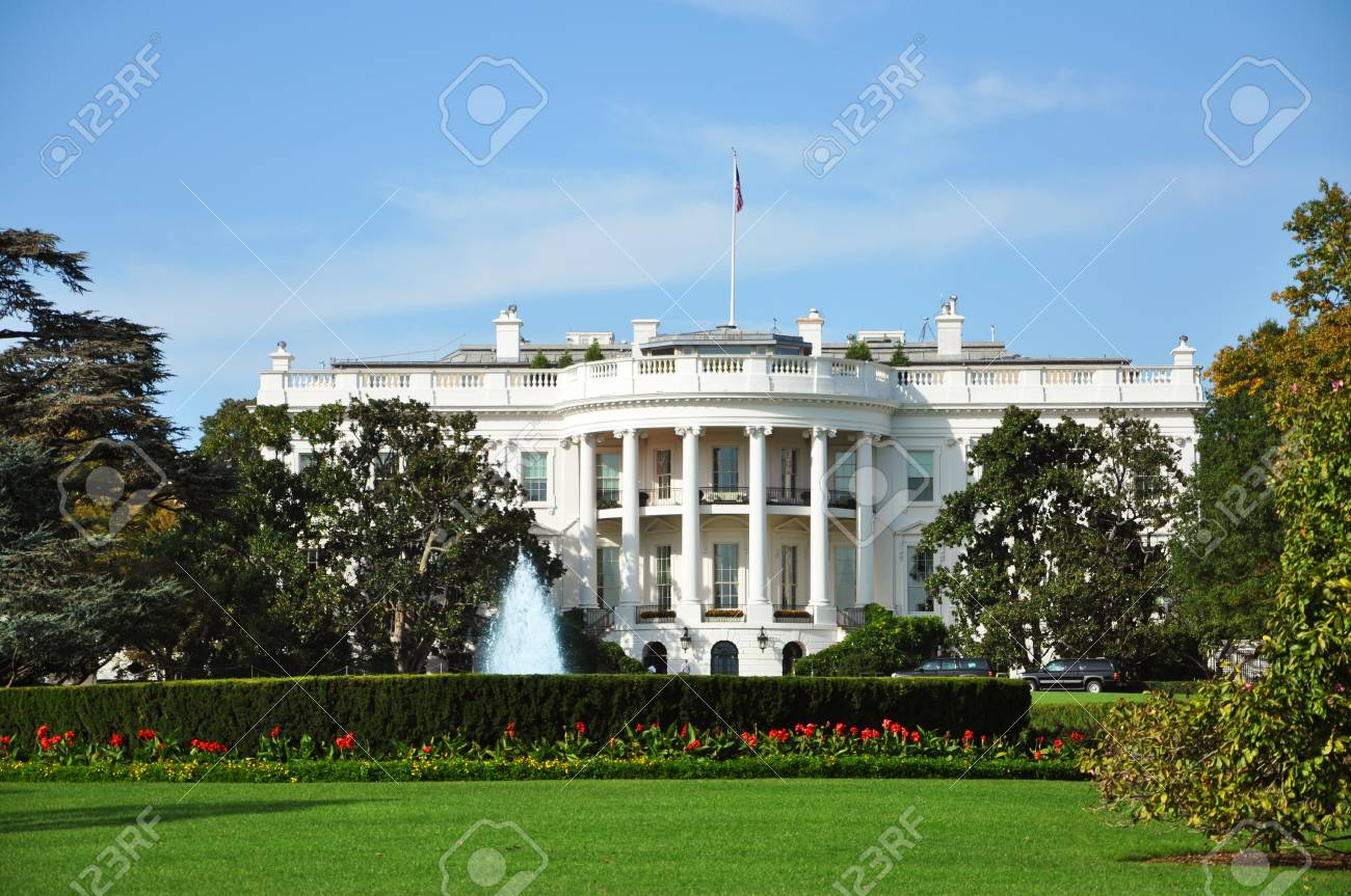 The White House Home Of The Us President In Washington Dc Usa Stock Photo Picture And Royalty Free Image Image 118390319