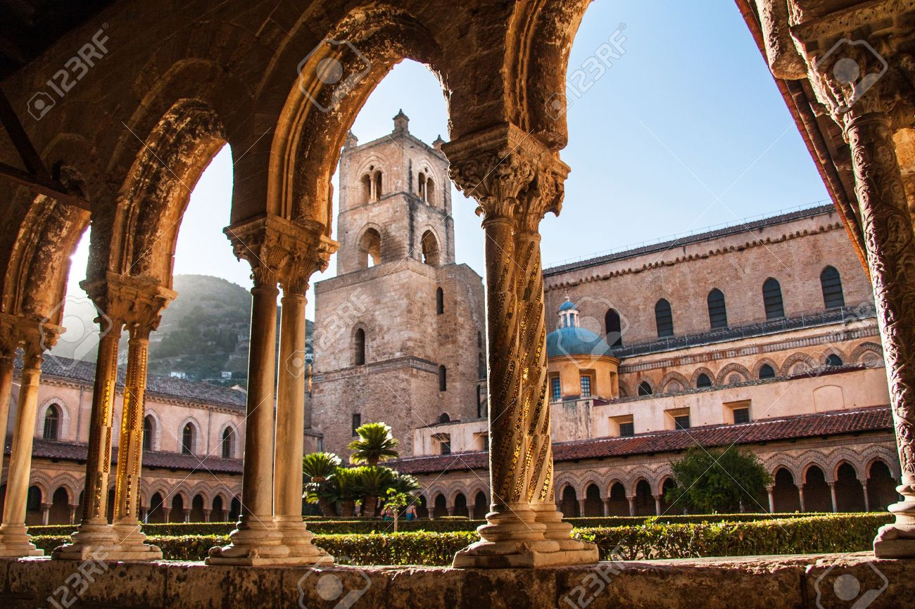 cathedral of monreale sicily italy stock photo picture and