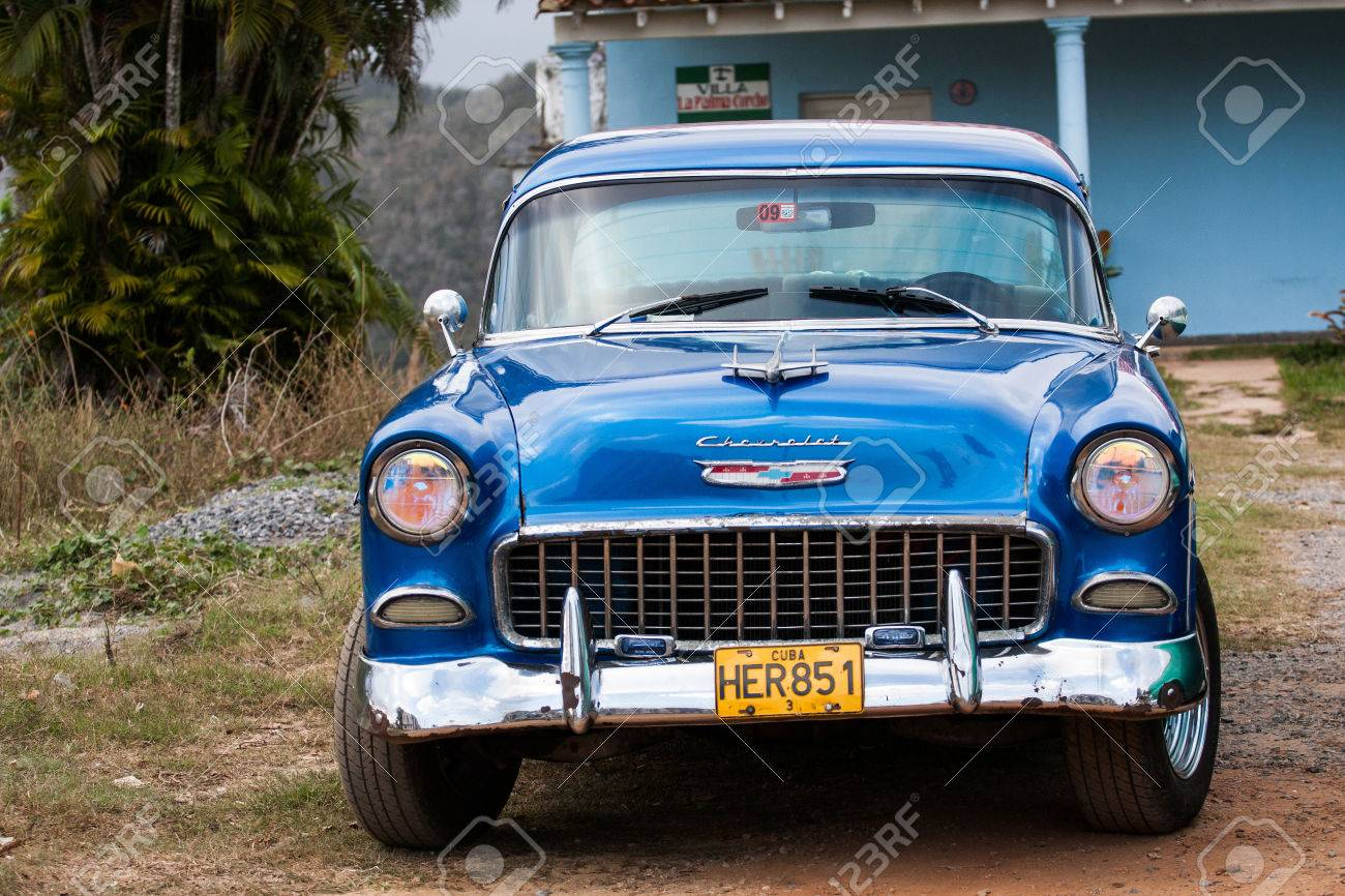 TRINIDAD, CUBA - FEBRUARY 14 Classic American Car On Streets ...