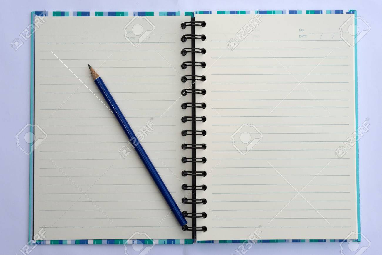 Image result for spiral bound notebook and pencils