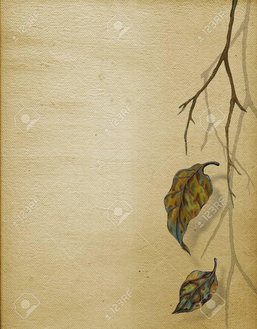 Kunst Herbst Leaf Hand Gemalde Auf Leinwand Fur Das Layout Oder Hintergrund Lizenzfreie Fotos Bilder Und Stock Fotografie Image 48641048