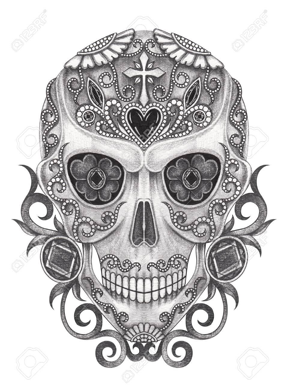 Day Of The Dead Skullart Design Skull Action Smiley Face Day