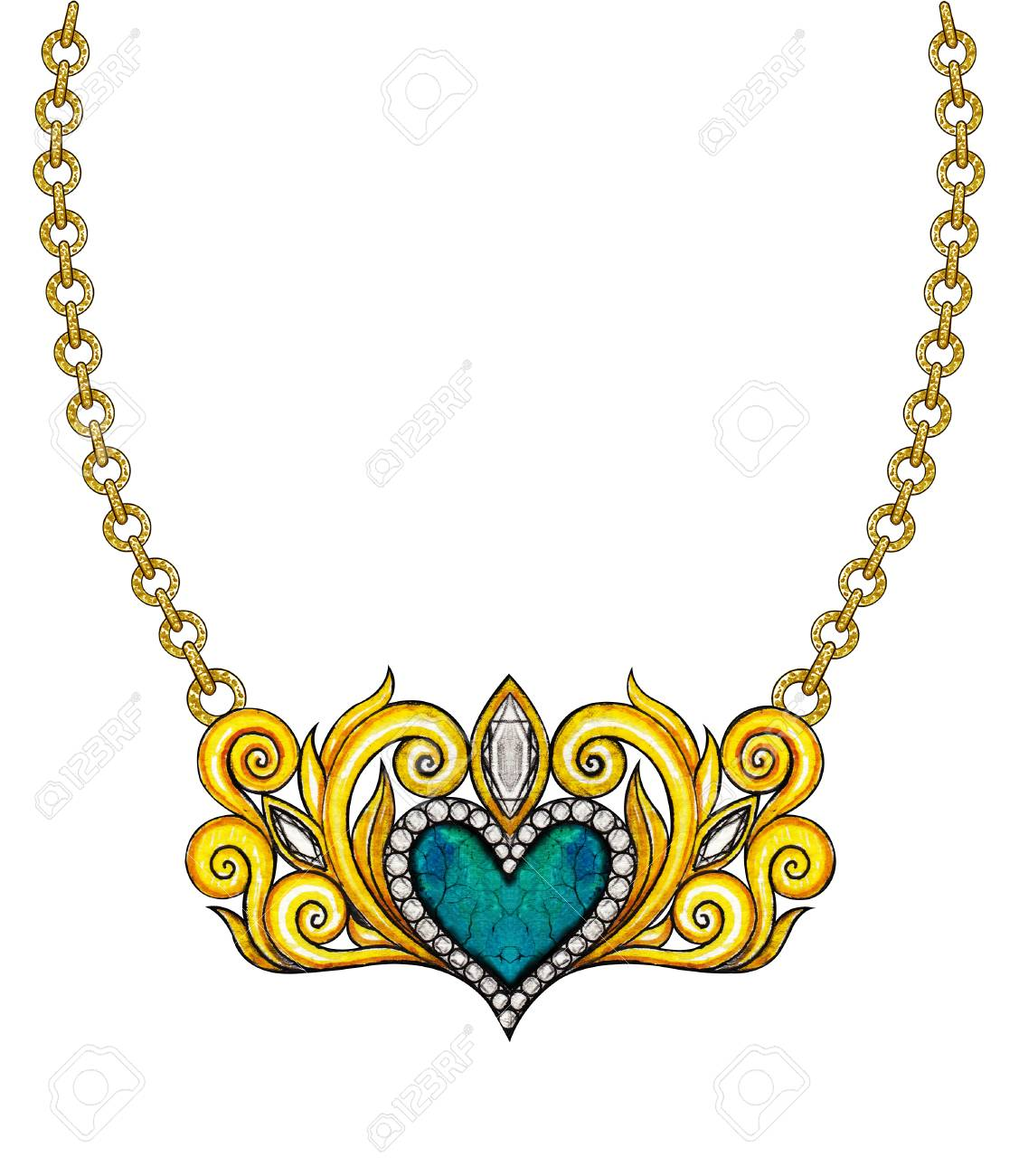 Heart jewelry art picture