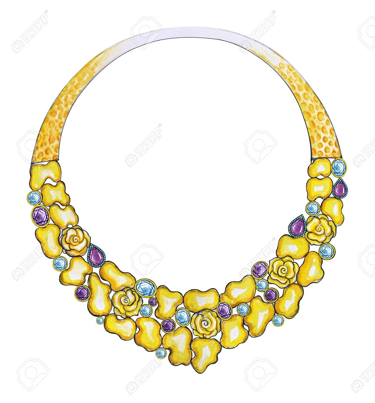 hand-painted necklace Hand drawing Necklace gold necklace Ink Art Image 925 Sterling Silver