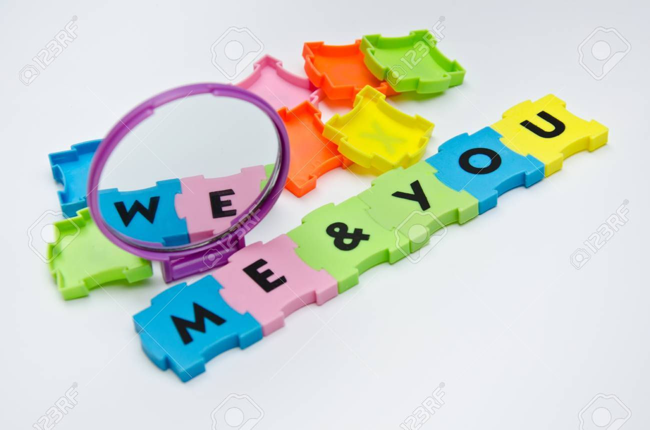 puzzle me and you Stock Photo - 12976874