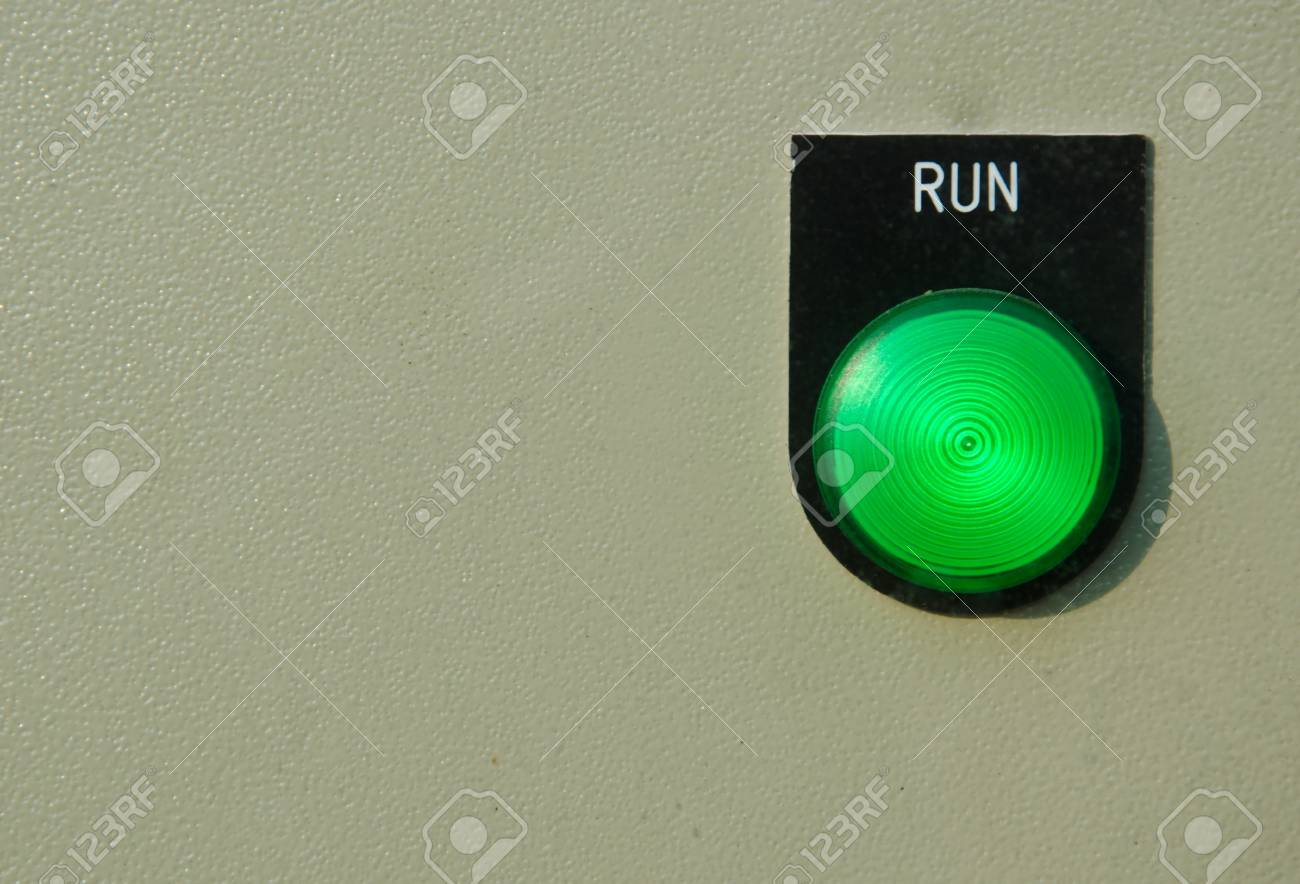 run switch control button Stock Photo - 12976886