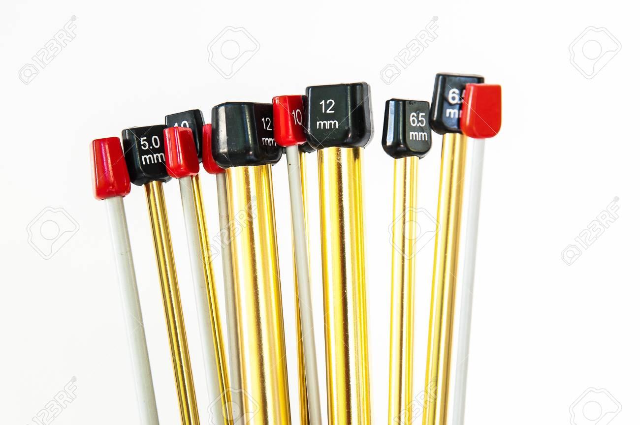 aluminum knitting needles Stock Photo - 15867949
