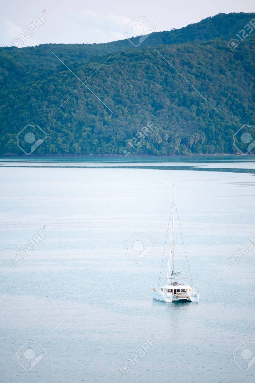 yacht in Andaman sea at phuket, Thailand Stock Photo - 16295005