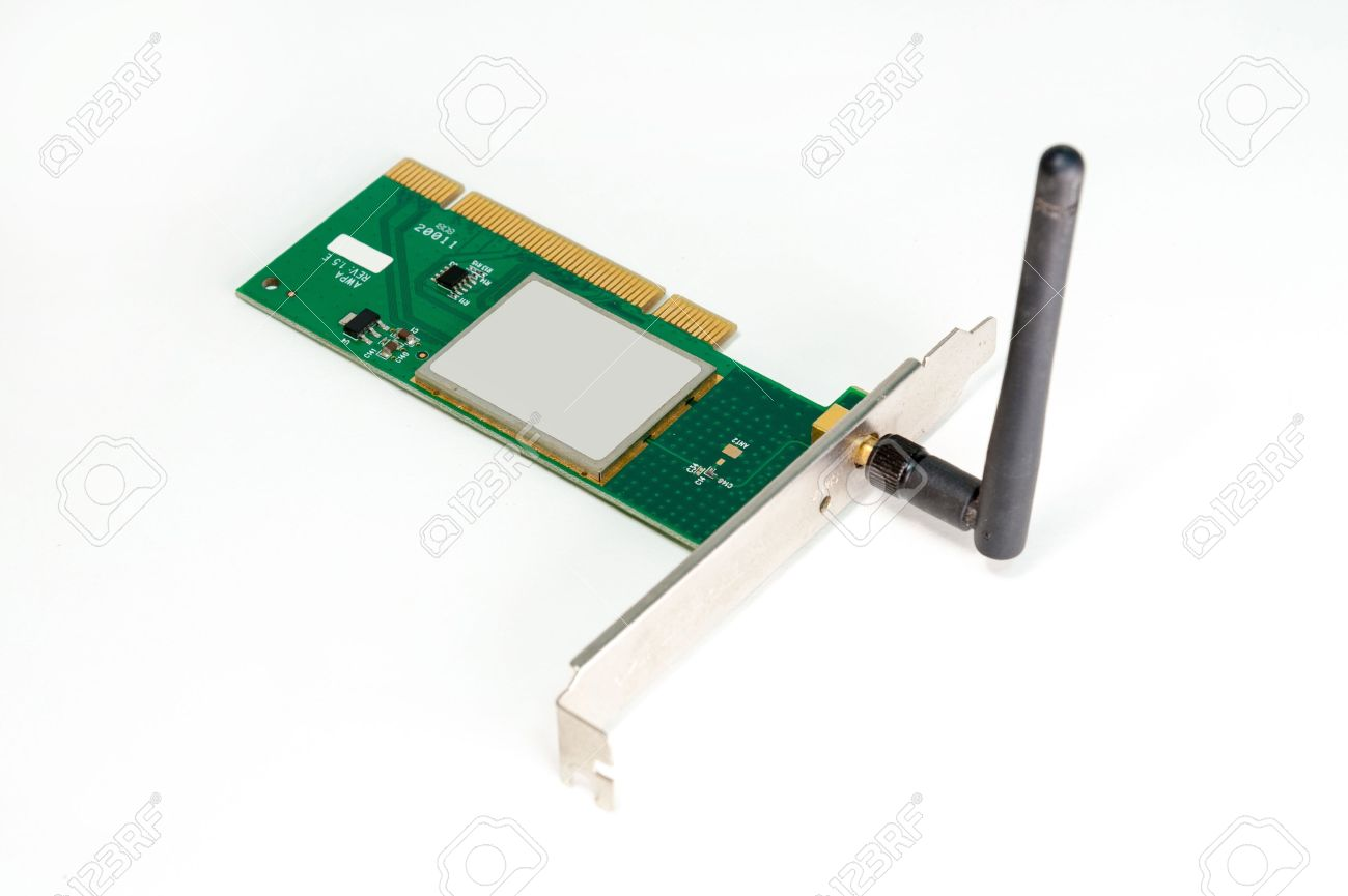 dusty wireless network adapter pci computer card stock photo stock photo dusty wireless network adapter pci computer card