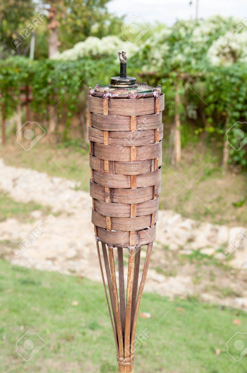 bamboo torch in garden stock photo picture and royalty image stock photo bamboo torch in garden