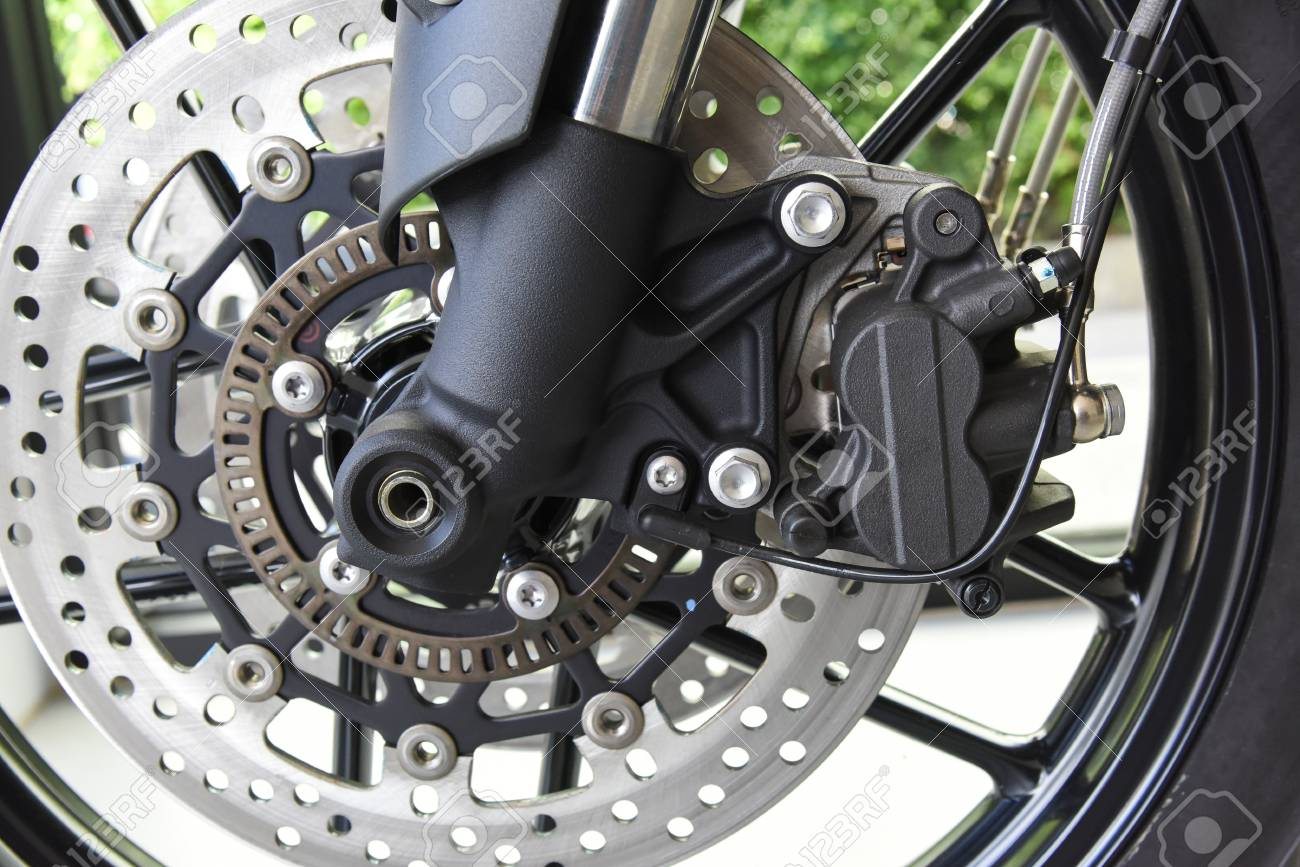 Close Up Of Motorcycle Disk Brake With Abs System Stock Photo Picture And Royalty Free Image Image 84606173