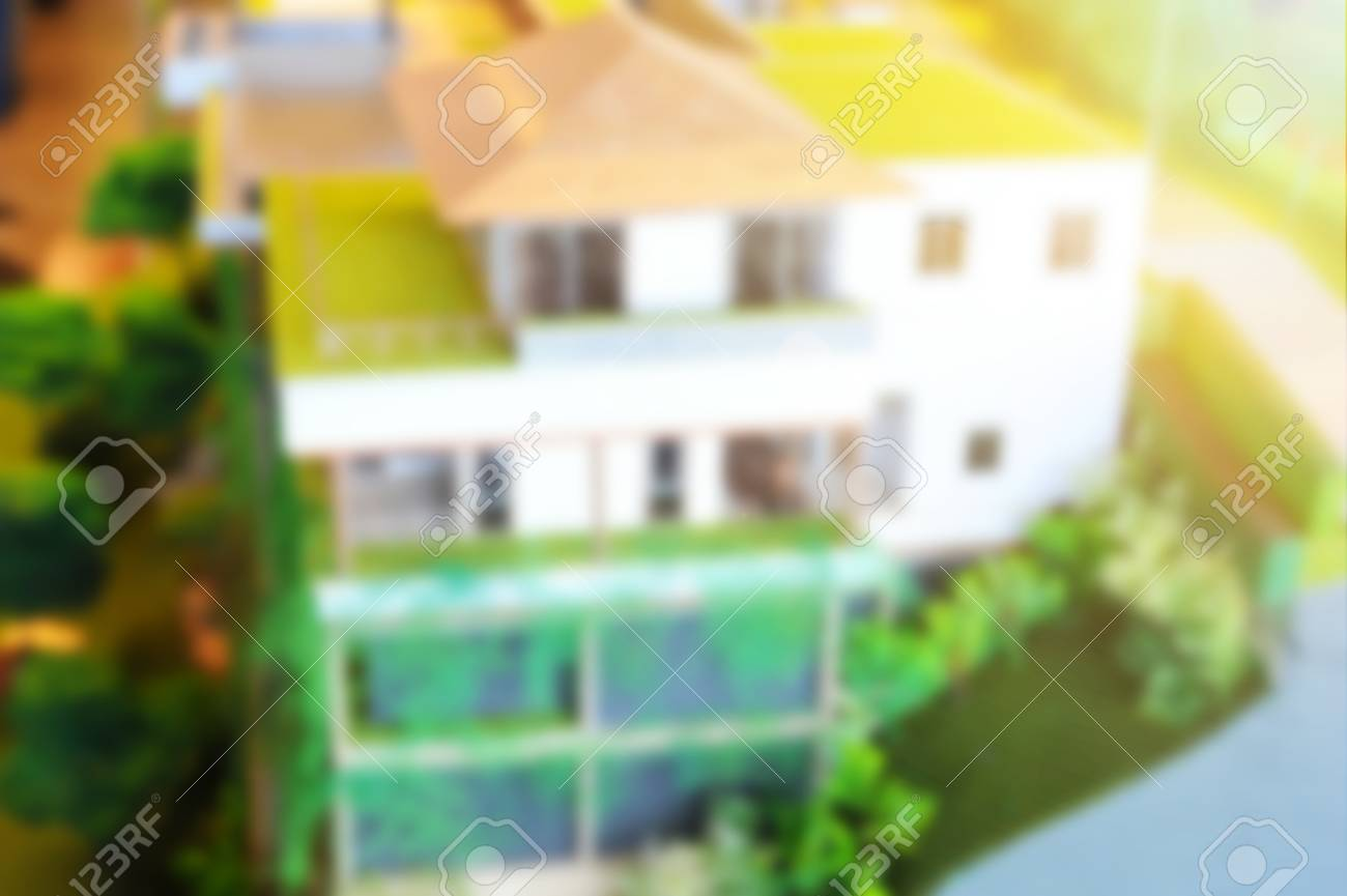 a blurred de focus of architectural model dream house concept stock photo 80483206 - Dream House Model
