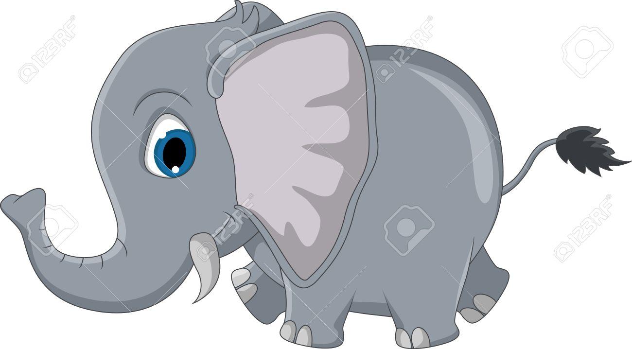 cute elephant cartoon Stock Vector - 20721097