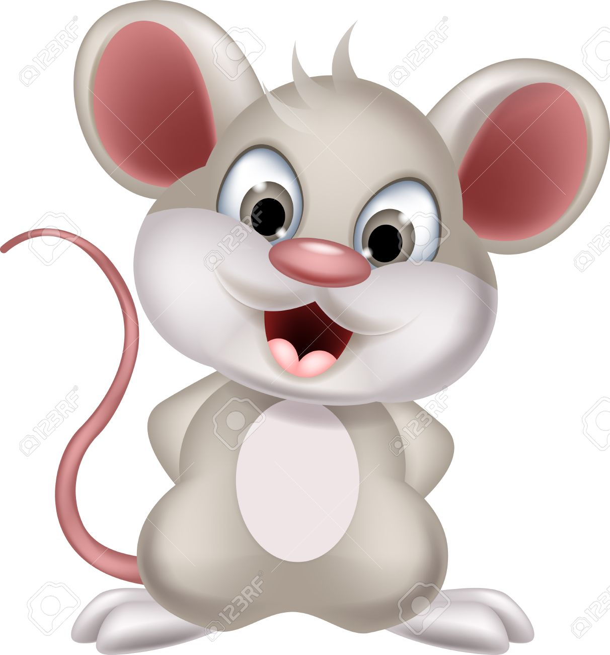 Cute Mouse Cartoon Posing Royalty Free Cliparts, Vectors, And ...