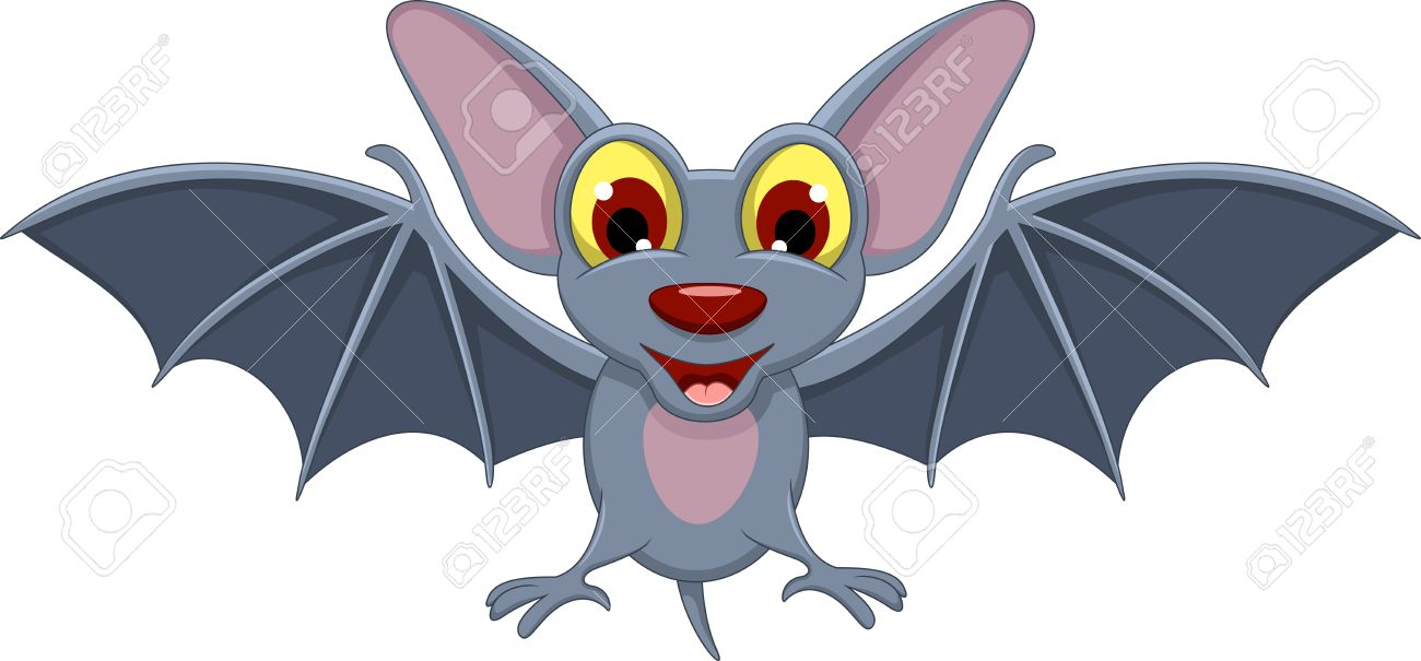Cartoon Halloween Bat Flying Royalty Free Cliparts, Vectors, And ...