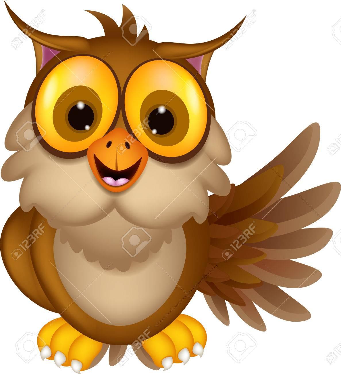 Cute owl cartoon waving royalty free cliparts vectors and stock cute owl cartoon waving stock vector 23848388 voltagebd Choice Image