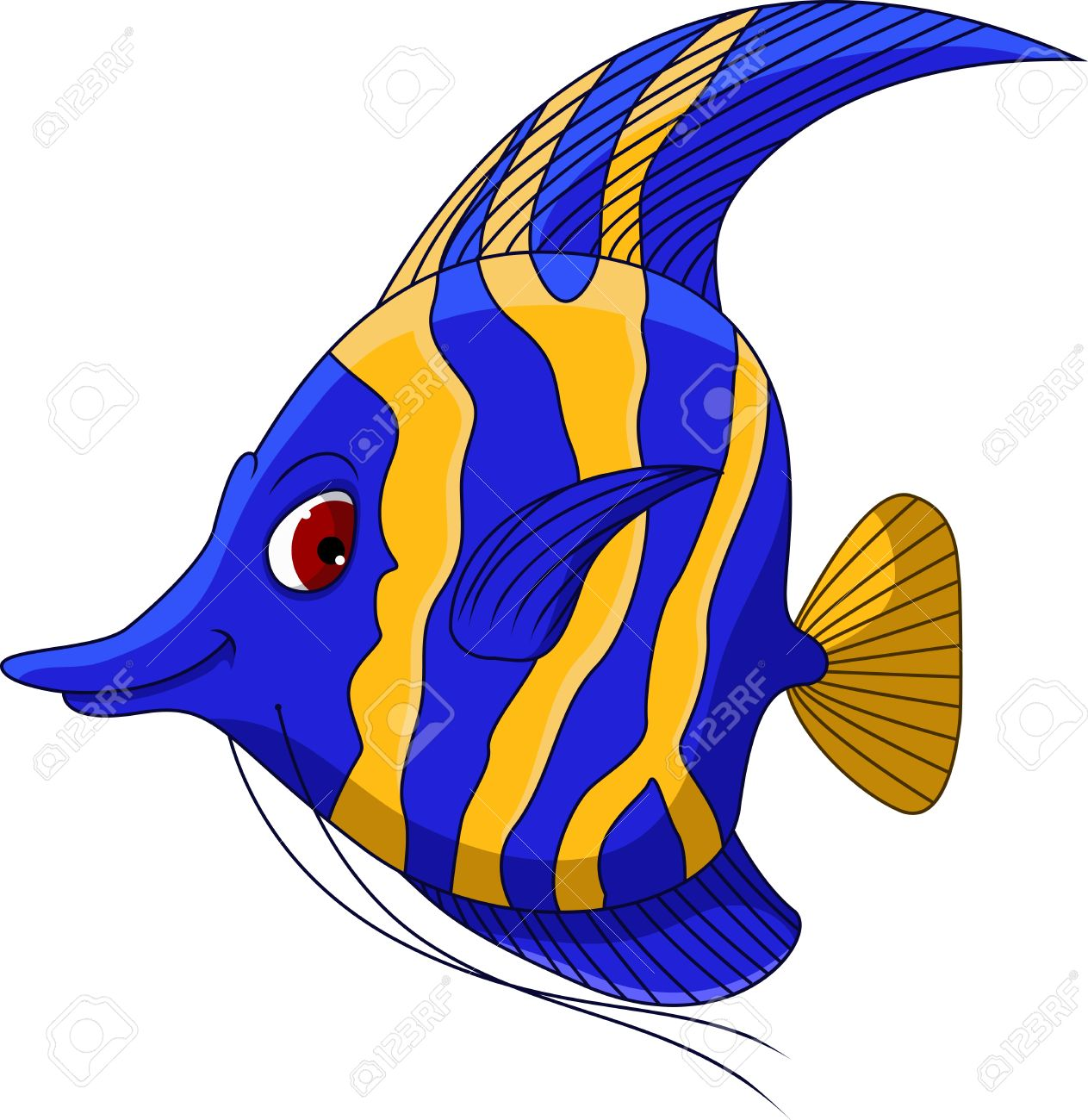 angel fish cartoon for you design royalty free cliparts vectors rh 123rf com colorful angelfish clipart angelfish clipart