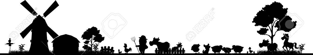 Farm Silhouette Royalty Free Cliparts, Vectors, And Stock ...