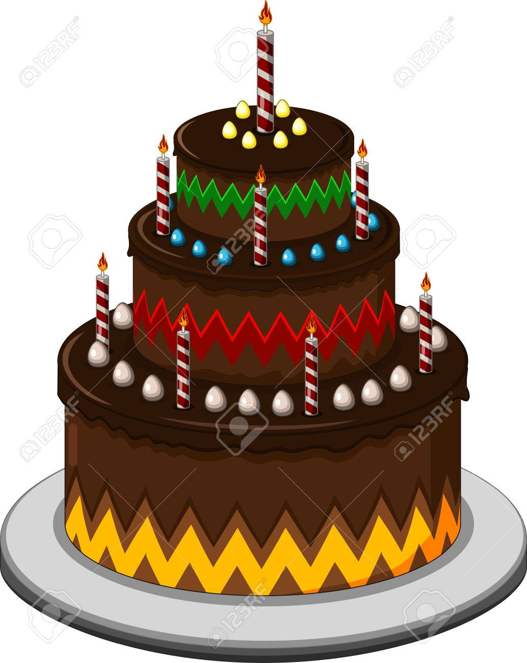 Peachy Birthday Cake For You Design Royalty Free Cliparts Vectors And Personalised Birthday Cards Veneteletsinfo