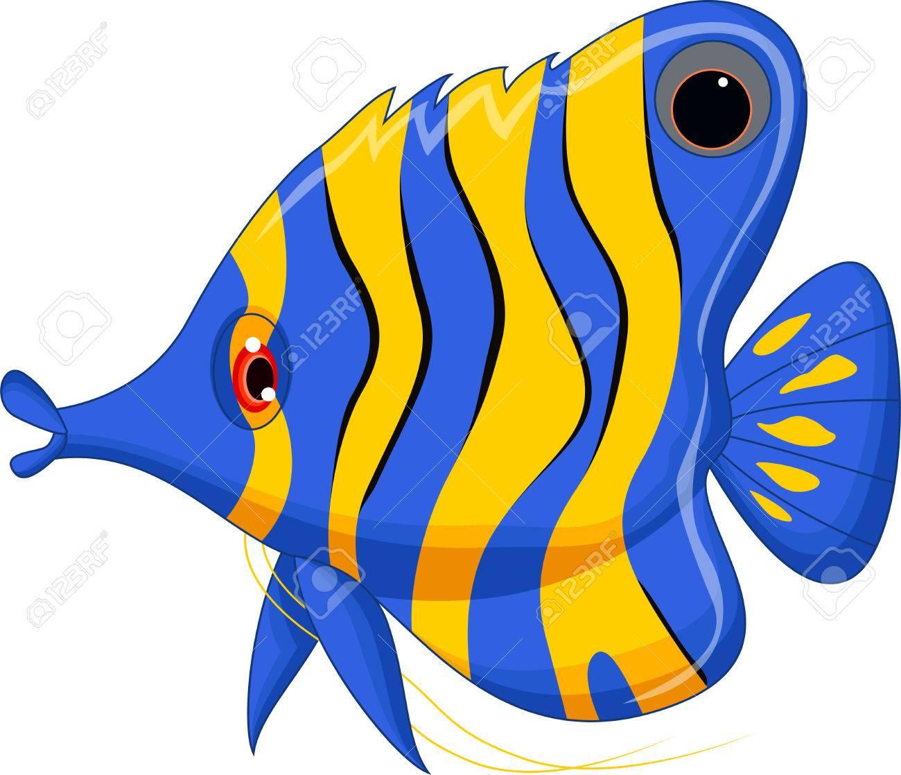 cute cartoon angel fish - 38015203