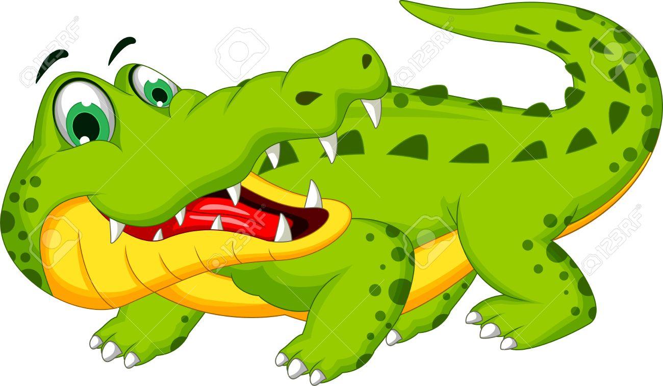 Cartoon crocodile posing - 38016683