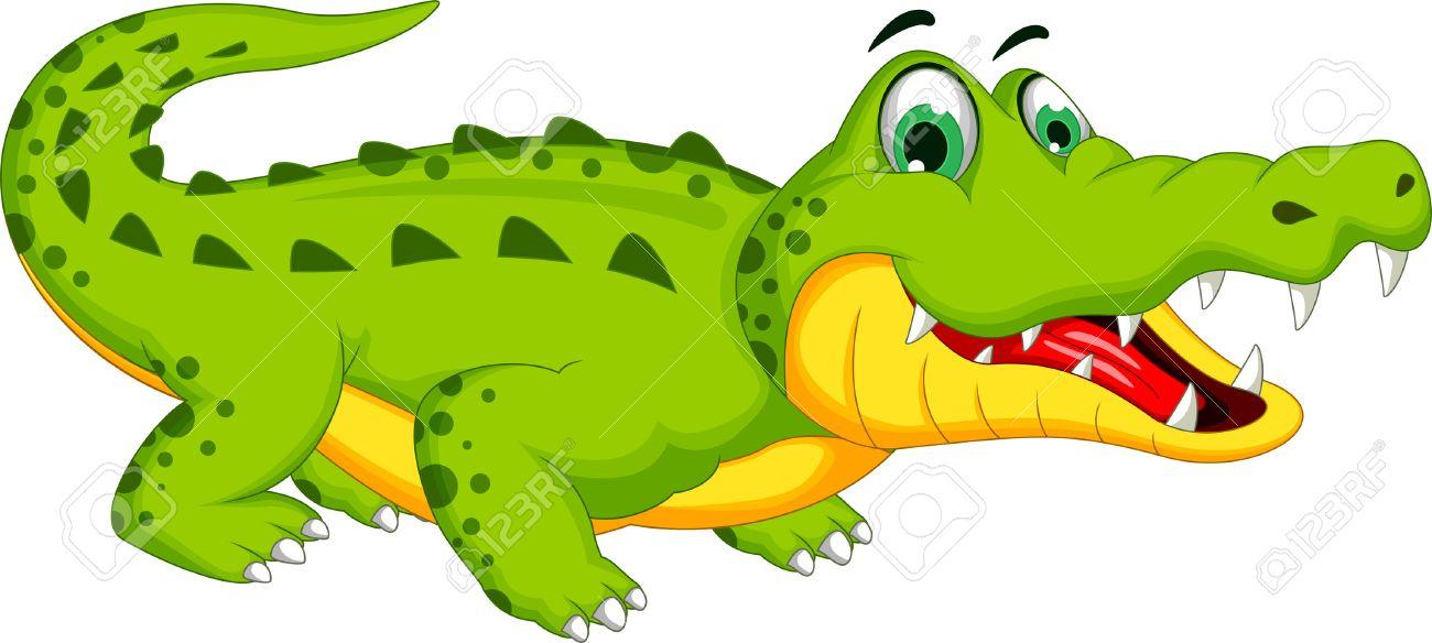 Cartoon crocodile posing - 37997565