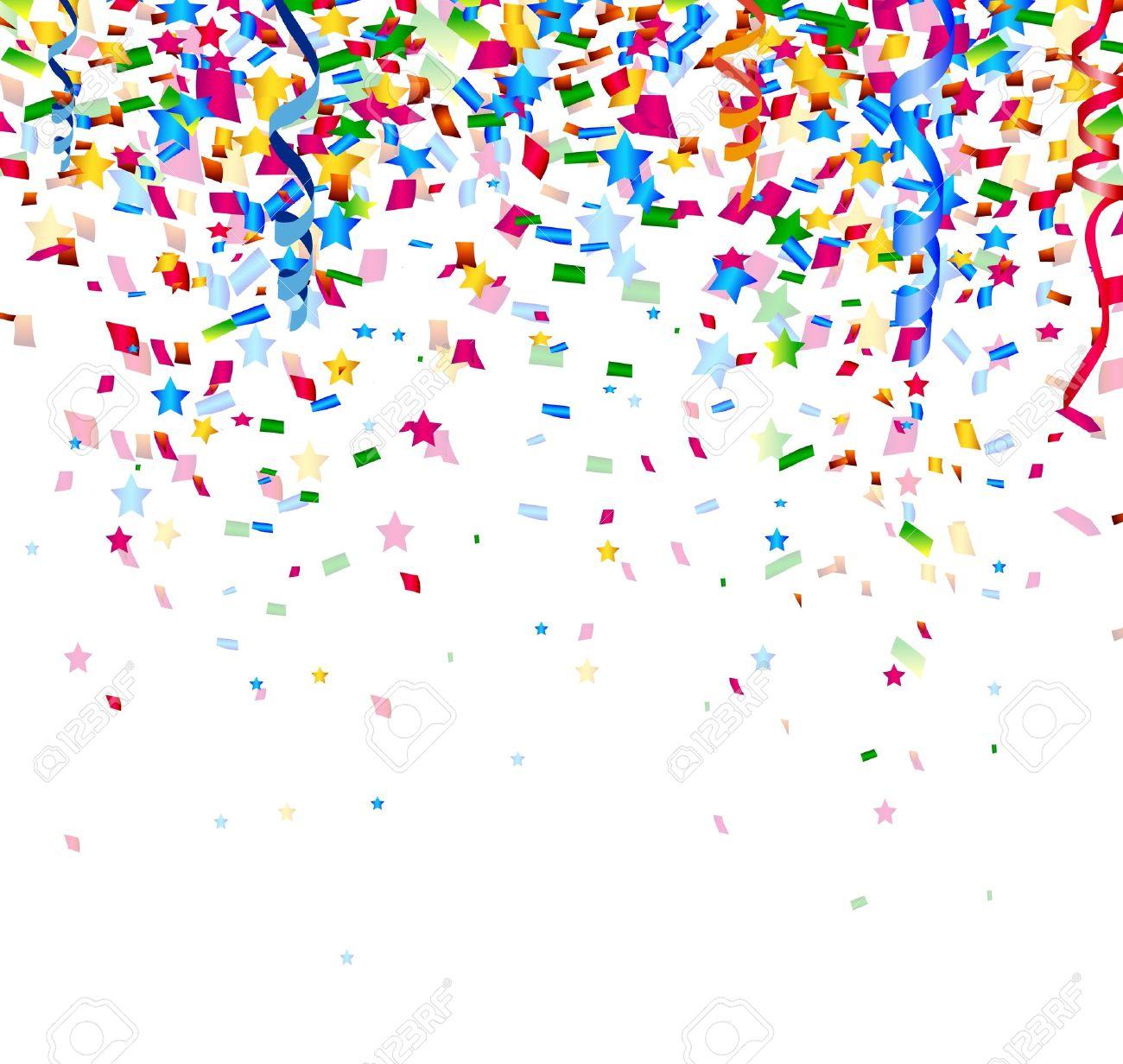 colorful confetti on white background - 38408519