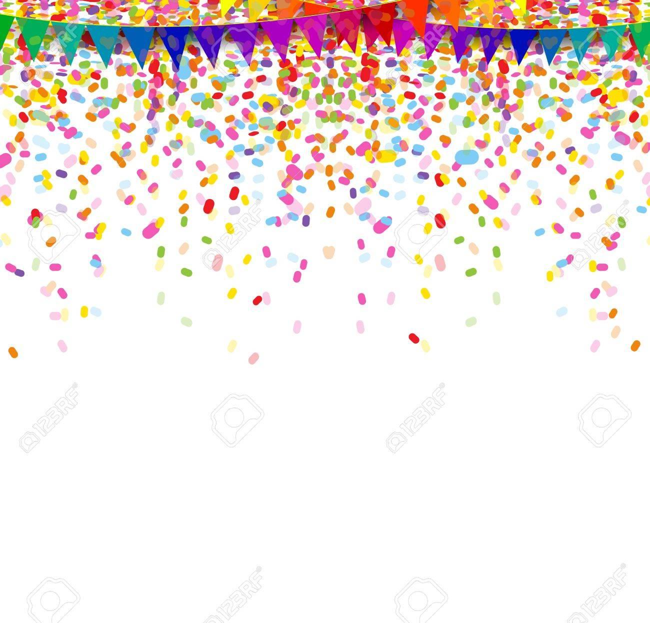colorful confetti on white background - 38408525
