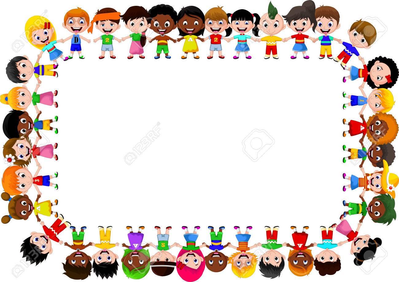 happy children different races - 41506247