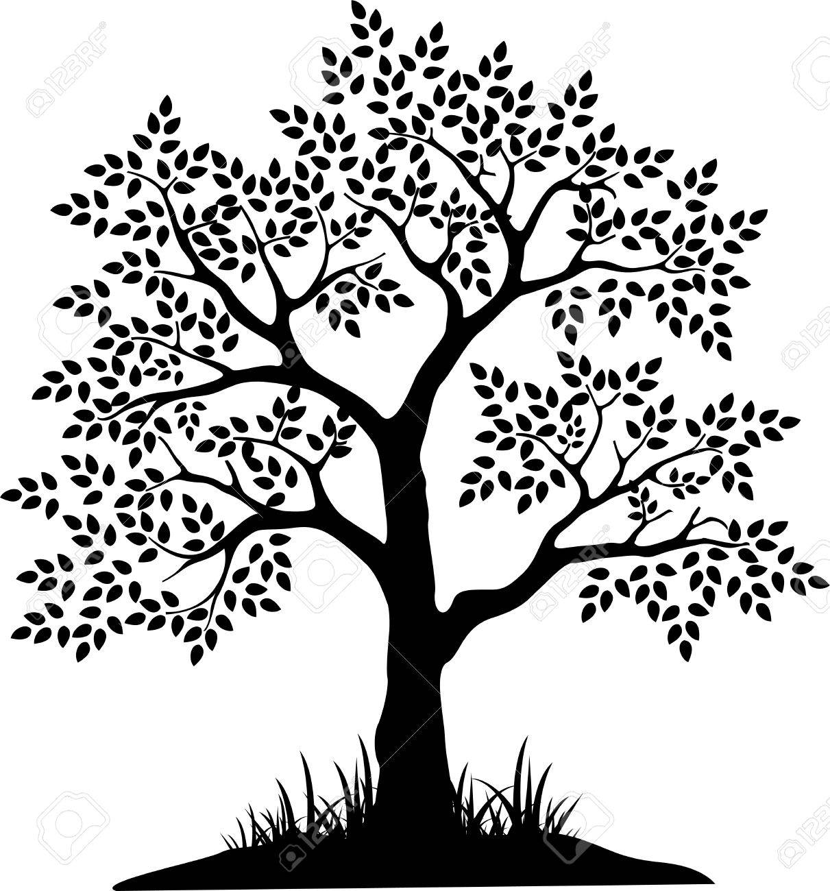 black tree silhouette for your design - 41506248
