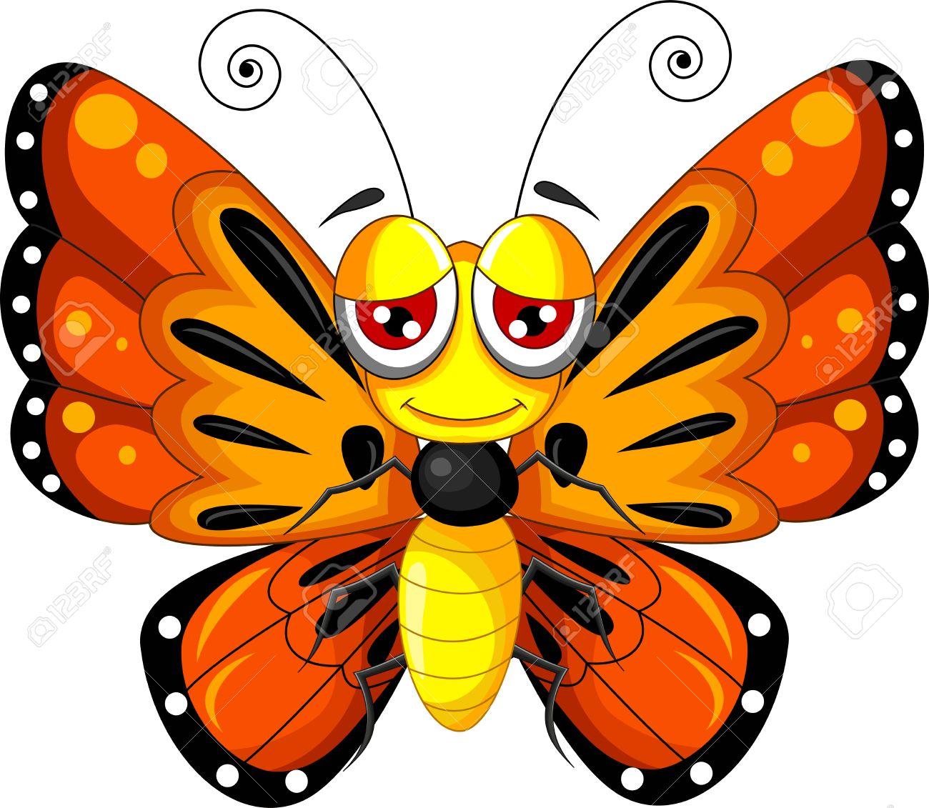 funny butterfly cartoon - 44500759
