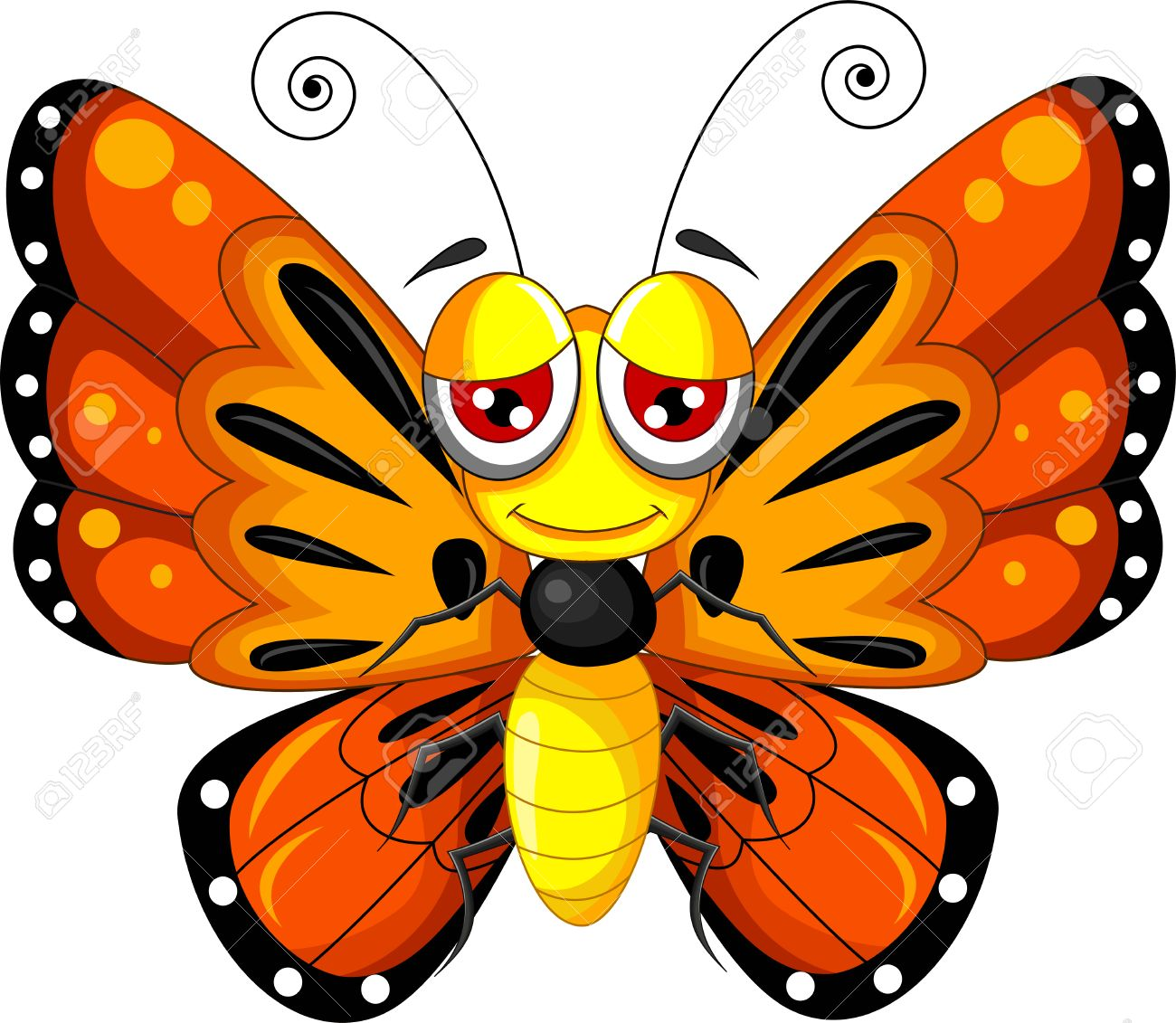 funny butterfly cartoon royalty free cliparts vectors and stock rh 123rf com butterfly cartoon images free download cartoon butterfly images