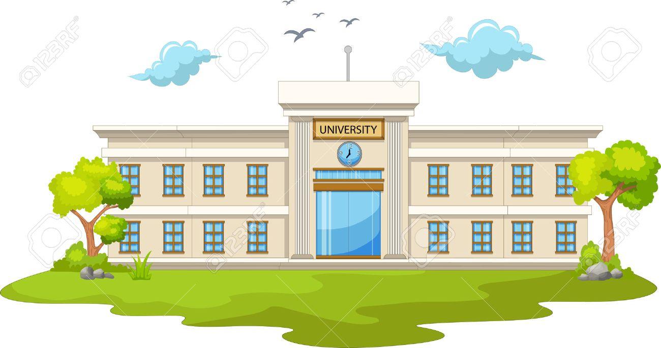 beautiful university cartoon - 56949834