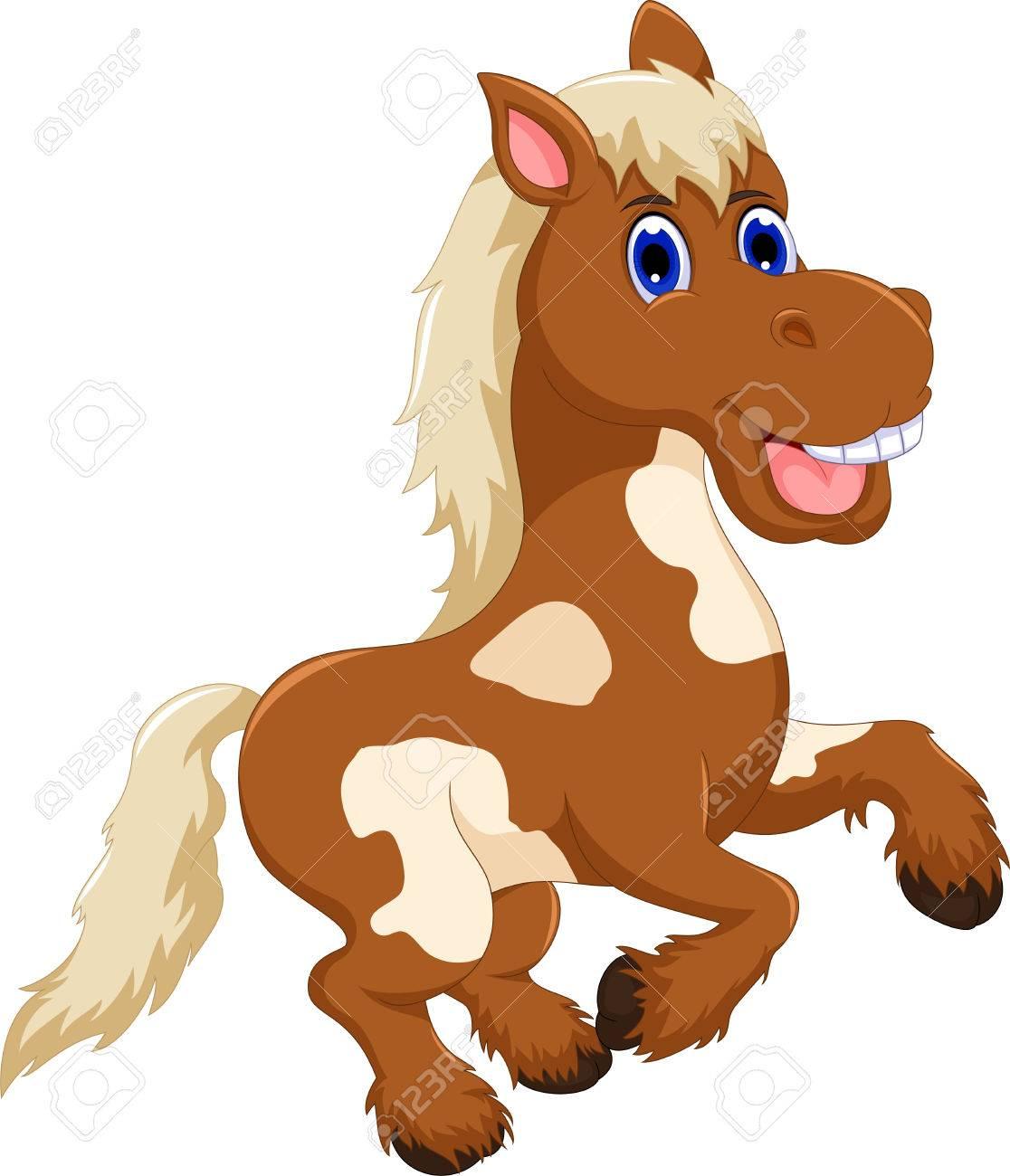 Funny Horse Cartoon Jumping Royalty Free Cliparts Vectors And Stock Illustration Image 73166030