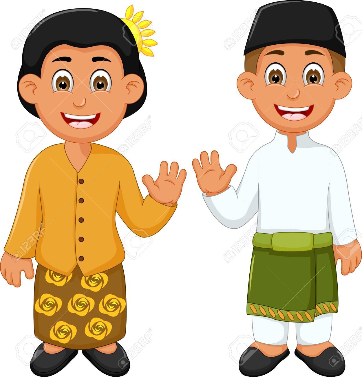 Pakaian Tradisional Malaysia Kartun