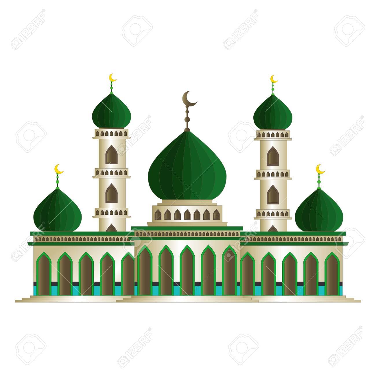 Beautiful Islamic Mosque Cartoon - 145998218