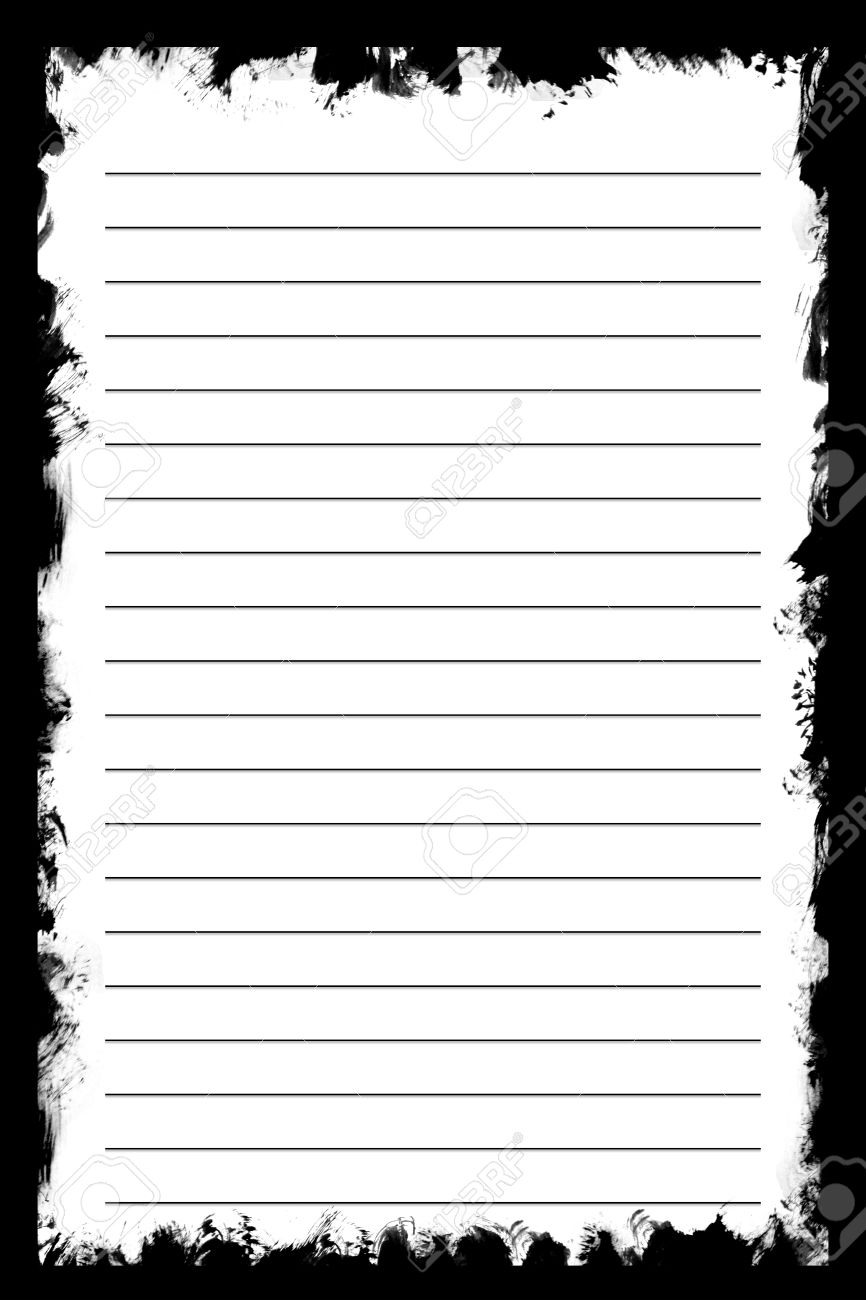 White Texture Notebook Paper On Black Background Use For – Notebook Paper