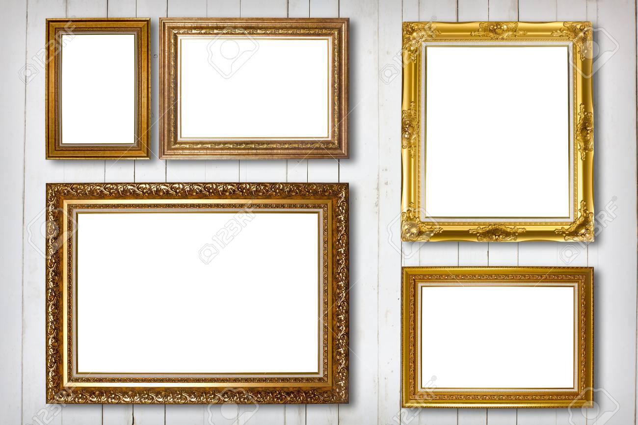 Conjunto De Marco De Imagen. Foto Galería De Arte En La Pared De La ...
