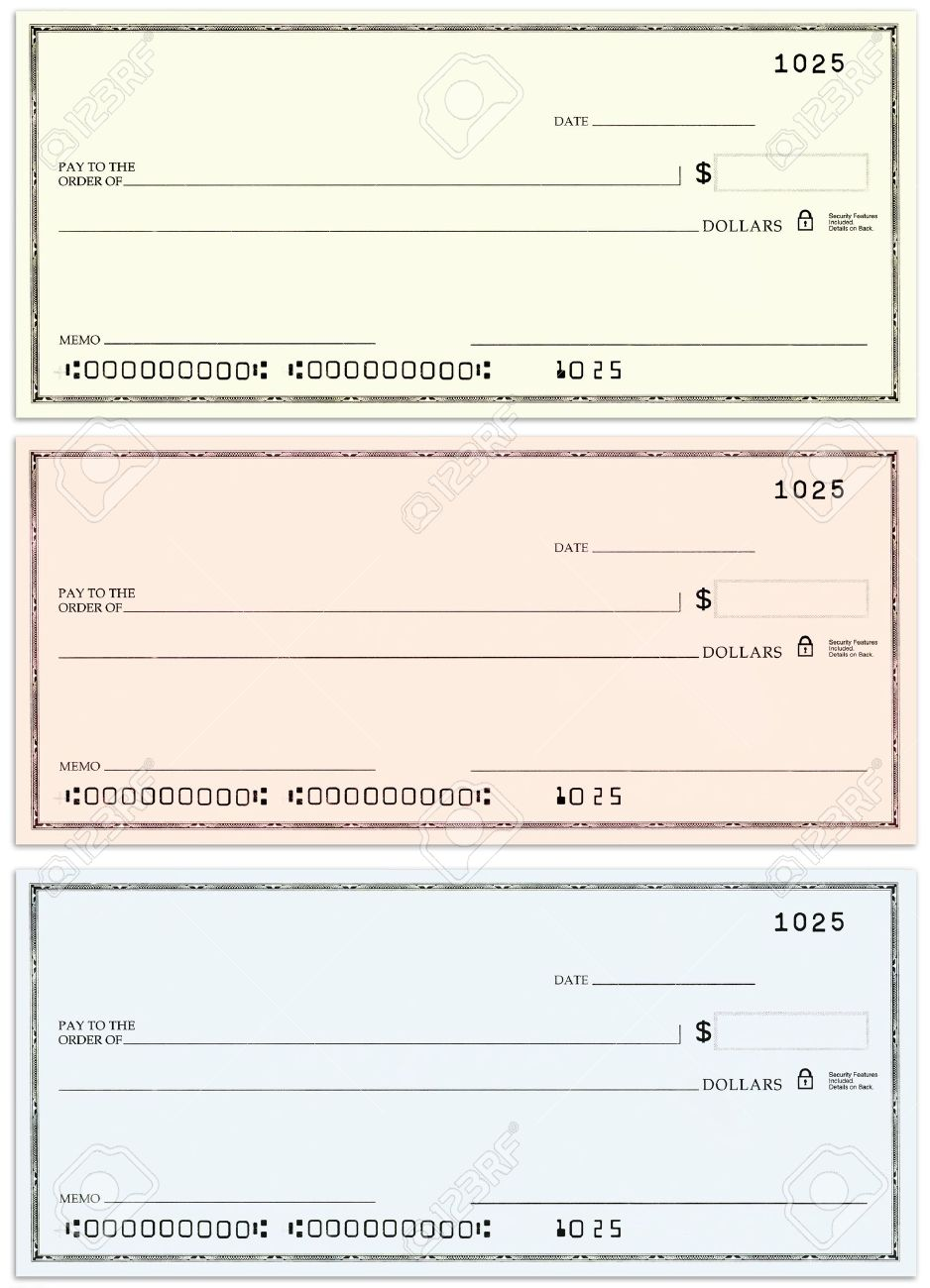 Ungewöhnlich Leere Scheckvorlage Zeitgenössisch - Beispiel ...