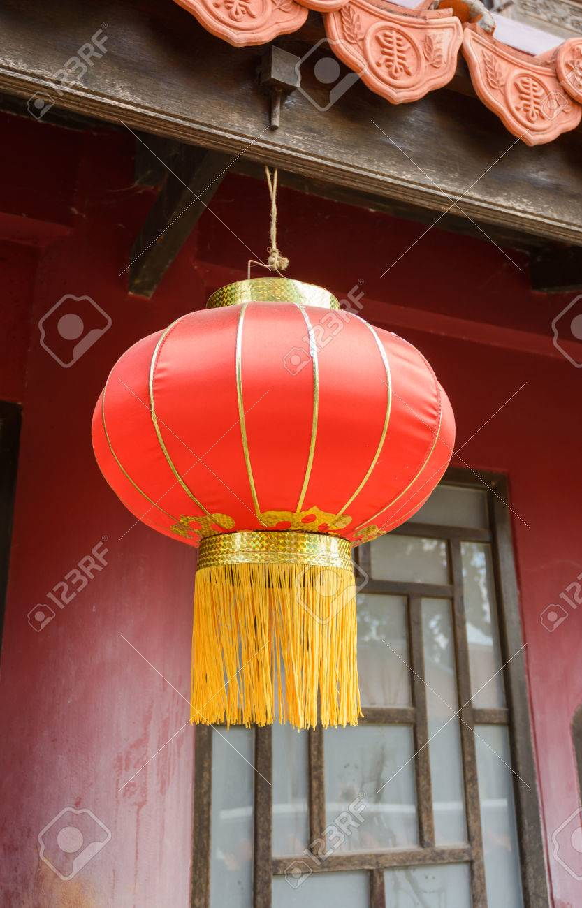 Chinese Lanterns Lamp Hang At Roof Asia House Stock Photo Picture And Royalty Free Image Image 60784725