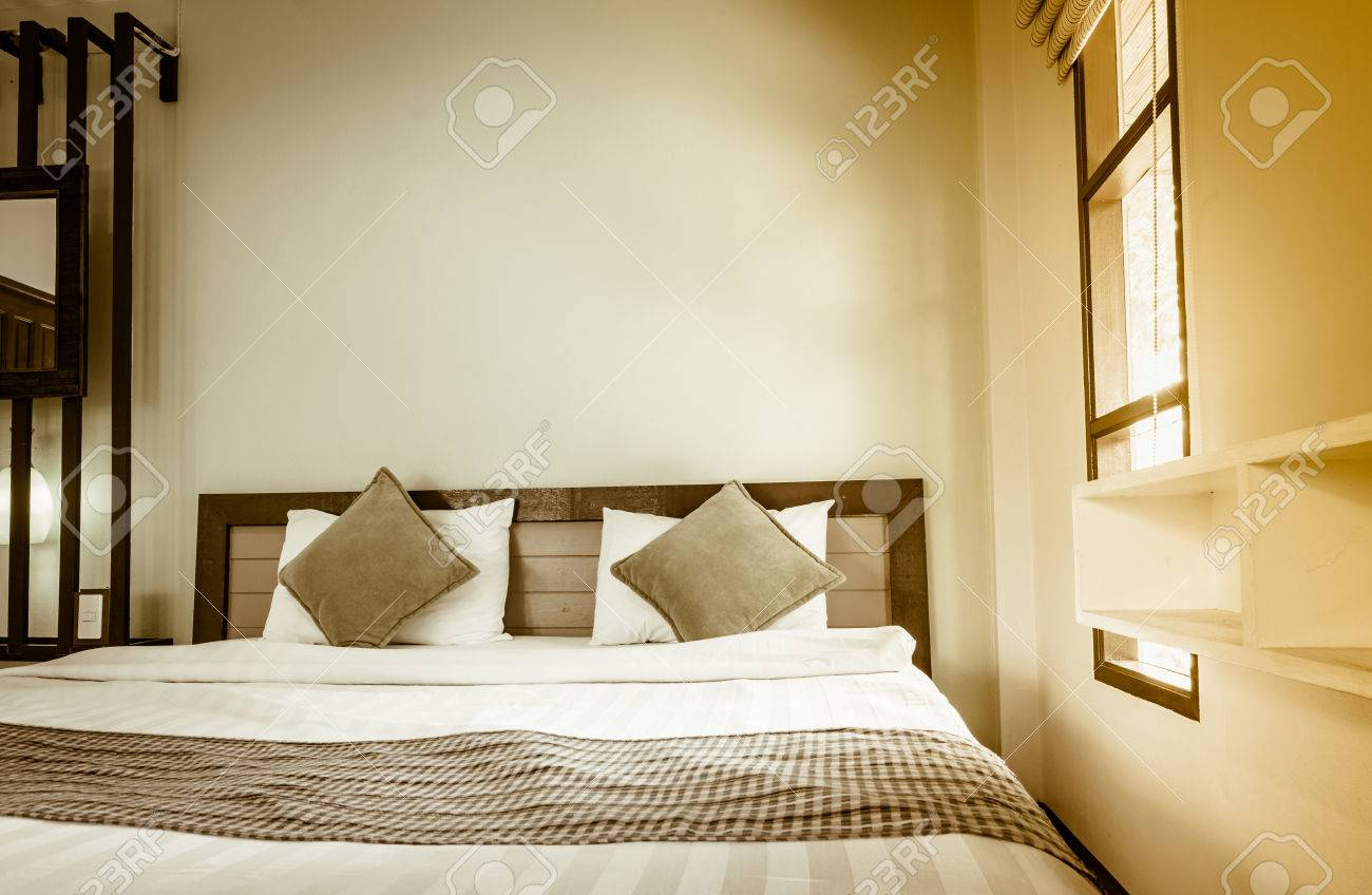 old style home small bedroom pattern background with vintage..