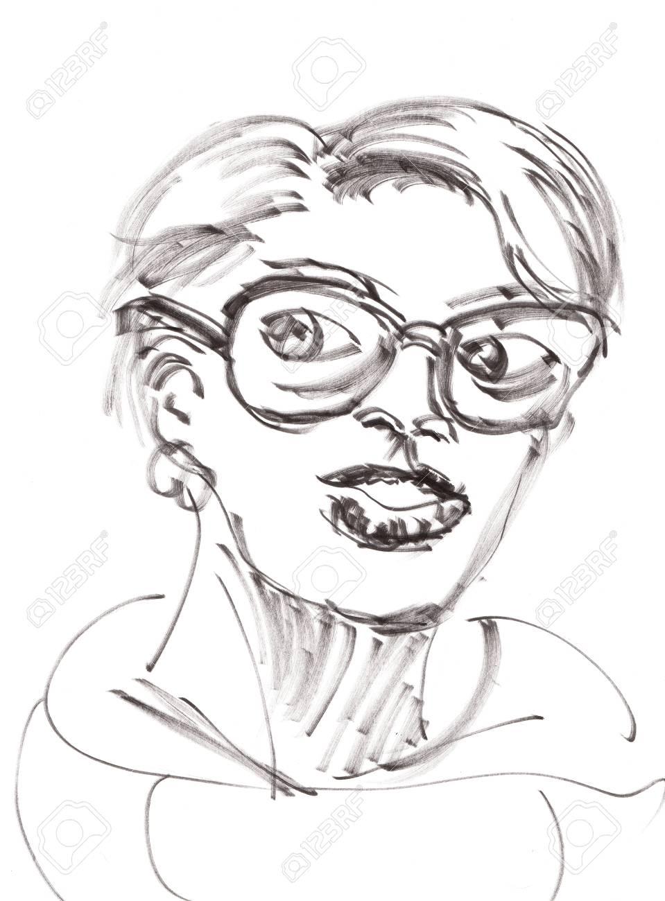 Hand Zeichnen Madchen Auf Papier Lizenzfreie Fotos Bilder Und Stock